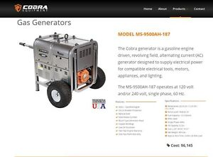 Cobra M 9500 Portable Gas Powered Industrial Generator