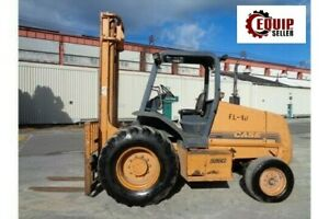 Case 580g 6000lb Rough Terrain Forklift Boom Truck Diesel Side Shift