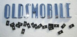 1948 1949 oldsmobile Hood And Trunk Letters W Hardware Die Cast chrome Plated