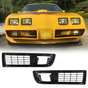 For 1979 81 Firebird Trans Am Front Bumper Grille Grill Set W Fitting Kit Pair