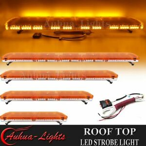 35 47 59 Led Emergency Warning Strobe Light Bar Tow Plow Truck Wrecker Amber