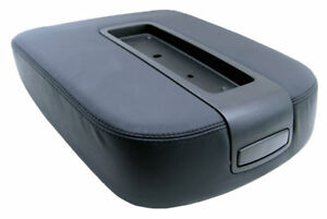 Fits Chevy Tahoe Suburban 07 13 Console Armrest Pvc Leather Cover Black