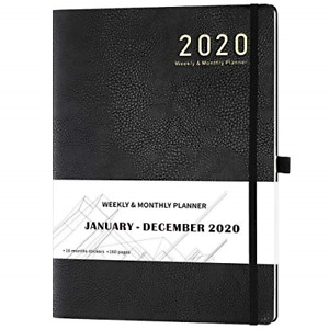 2020 Planner Weekly Monthly Planner 8 5 X 11 Soft Cover With Pen Holder