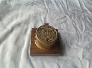 Vtg Brass Neptune Meter Trident Water Meter New York Desk Item Steampunk