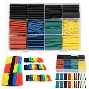 530x Assortment 2 1 Heat Shrink Wire Wrap Tubing Electrical Connection Cable Kit