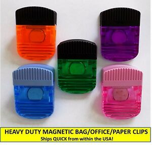 Quantity 50 Heavy Duty Translucent Magnetic Bag Paper Clips