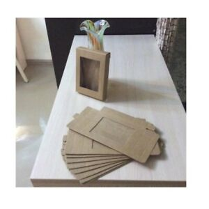Kraft Paper Box For Weddings Party Muffin Packaging With Window Gift Boxes 10pcs