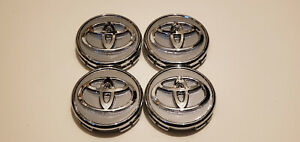 4x Toyota Wheel Rim Rims Center Hub Cap Caps Chrome Logo 57mm Prius Corolla