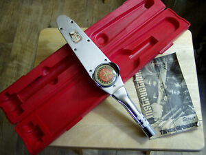 Vintage Snap On Tools 1 2 Drive Torqometer Te100 0 100 Foot Pounds Red Case