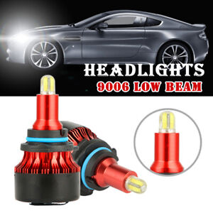 2x 8 sides 9006led Headlight Bulb Kit Low Beam 6000k 200w 15000lm White Light