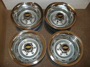 73 87chevy Truck 6 Lug 15x8 Gm Oem Truck Rally With Gm Rest Caps