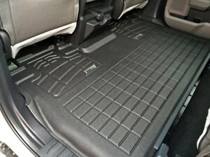 Second Row Black Floor Mat For A 2015 2019 Ford F150 Super Crew