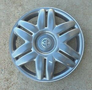 15 2000 01 Toyota Camry 12 Spoke Charcoal Grey Hubcap Wheel Cover