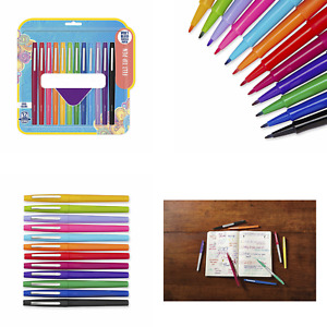 Felt Tip Pens Medium Point 0 7mm Bright Assorted Colors And Smear Resistant Ink