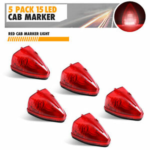 5x Red Triangle M20311r 15 Led Cab Roof Top Clearance Marker Lights Truck Bus