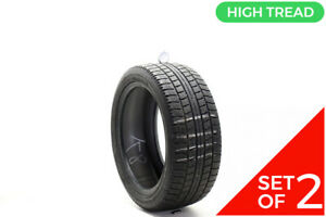 Set Of 2 Used 225 45r17 Nitto Nt sn2 Winter 91t 9 32