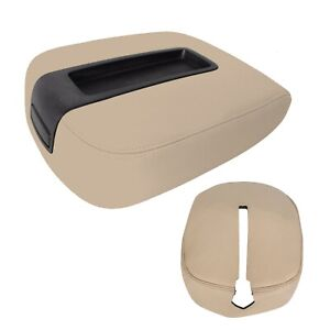For 07 14 Chevy Tahoe Suburban Center Console Storage Compartment Lid Cover Tan