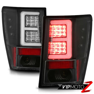 For 07 10 Jeep Grand Cherokee Neon Tube Led Tail Light Brake Signal Lamp Black