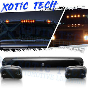 Full Amber Truck Led Cab Roof Marker Light Kit For Chevy Silverado 2500hd 3500hd