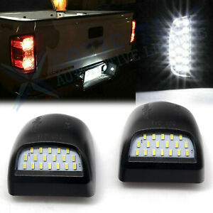 Led License Plate Light Housing For Chevy Silverado 1500 2500 2500hd 3500 99 13