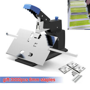 Manual Desktop Stapler Saddle Stitching Saddle Binder Machine Max Binding 6 5mm