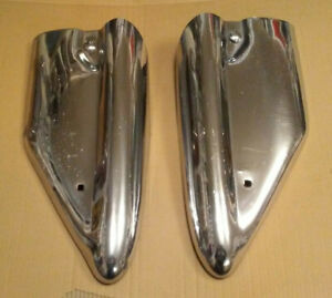 56 1956 Oldsmobile Continental Kit Rear Bumper Side Extensions Chrome Ends 88 98