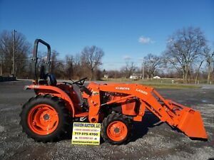 2017 Kubota L3901d Compact Loader Tractor Only 35 Hours Very Nice Warranty