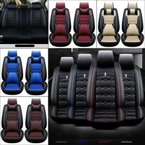 11pcs Car Seat Cover Protector Cushion Front Rear Full Set Pu Leather Universal