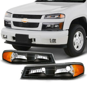04 12 Chevy Colorado Gmc Canyon Black Front Upper Headlight Corner Signal Lamp