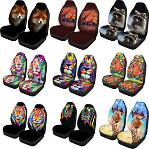Novelty Animal Design Car Seat Covers Universal Fit Front Seats Cover Full Set 2