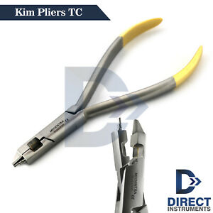 Dental Kim Plier Tc Wire Cutter Orthodontic Archwire Bending Loop Forming 14cm
