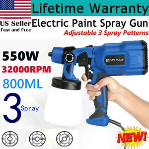 Spray Gun 550w 110v Power Home Electric Paint Sprayer For Painting Fences Walls
