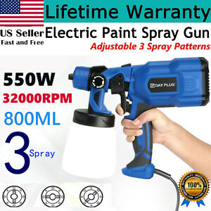 New 800ml Electric Paint Sprayer Spray Gun Handheld Painting Gun 550w 32000rpm