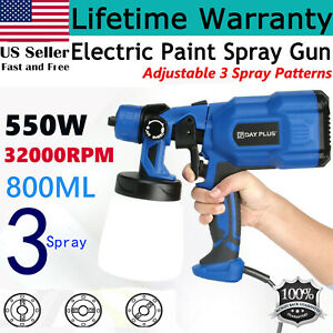 800ml Electric Paint Sprayer Spray Gun For Outdoor Fence Wall Painting Tool 550w