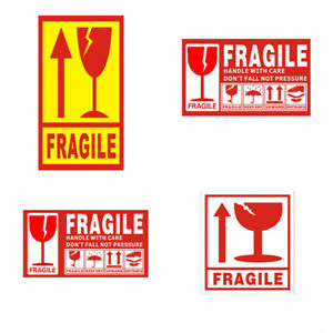 100x Fragile Stickers Handle With Care Warning Label For Package Box Sign Tags