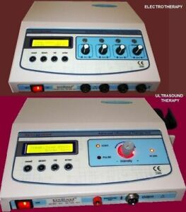 Ultrasound Therapy Electrotherapy Pain Relief Stimulator Lcd Unit Combo Therapy