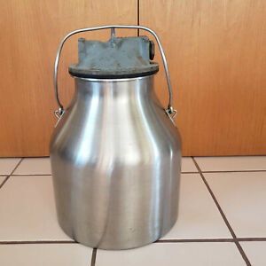 Vintage Stainless Steel Delaval Milk Can For Milk Cows Or Goats