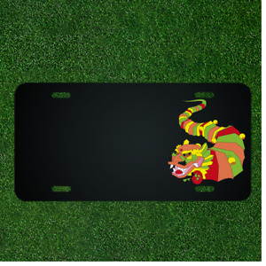 Custom Personalized License Plate With Add Names To Dragon Chinese Animal