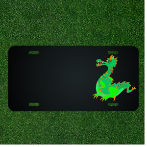 Custom Personalized License Plate With Add Names To Dragon Chinese China Asia