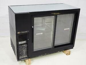 True Tbb 24gal 48g sd 2 Door Back Bar Refrigerated Bottle Cooler Sn 6542851