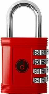 Padlock 4 Digit Combination Lock For Gym Sports School Employee Locker