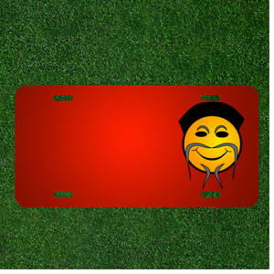 Custom Personalized License Plate With Add Names To Chinese Smiley Emoticon