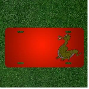 Custom Personalized License Plate With Add Names To Dragon Green Chinese
