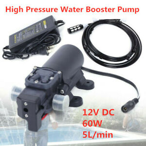 12v 5l min High Pressure Booster Diaphragm Water Pump Garden Sprayer Tool Set Us