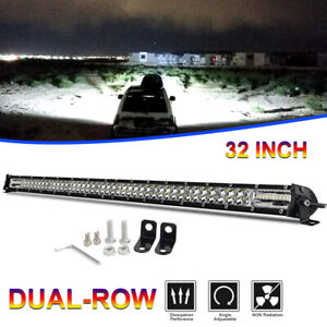 32inch Slim Cree 1632w Led Light Bar Combo Beam Truck Fog Offroad Work Lamp 30