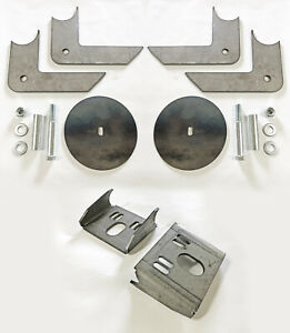 Rear Air Bag Brackets Universal Behind Axle Set With Hardware Free Shipping