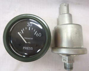 Willys Jeep M38 M38a1 G758 Dodge Truck M37 G741 24 Volt 0 60 Oil Gauge