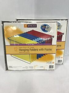 Smead Hanging File Folders With 18 Metal Frame Letter Size 12 Lot Of 2