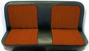 67 72 Chevy gmc C10 Truck Orange black Houndstooth Bench Seat Cover Made In Usa
