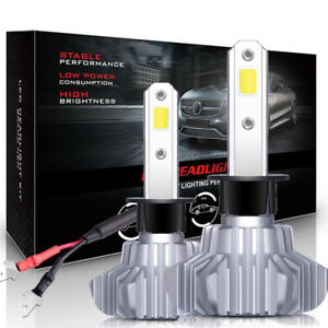 Autofeel 8000lm 80w Led Headlight Kit H1 Bulbs 6000k White One Set
